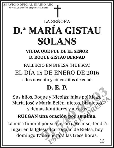 María Gistau Solans